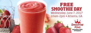 Free Smoothies at participating Smoothie King