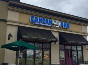 Canton Pho Menu
