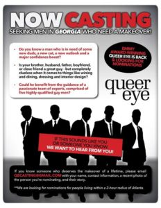 Queer Eye for the Straight Guy Opportunity in Woodstock
