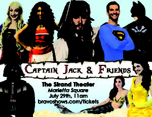 Captain Jack & Friends Stage Show (with popular characters for kids) @ The Earl Smith Strand Theater | Marietta | Georgia | United States