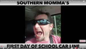 Southern Momma in Car Pool