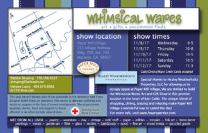 Whimsical Wares Art and Gift Show @ Paper Mill Village   Marietta   Georgia   United States