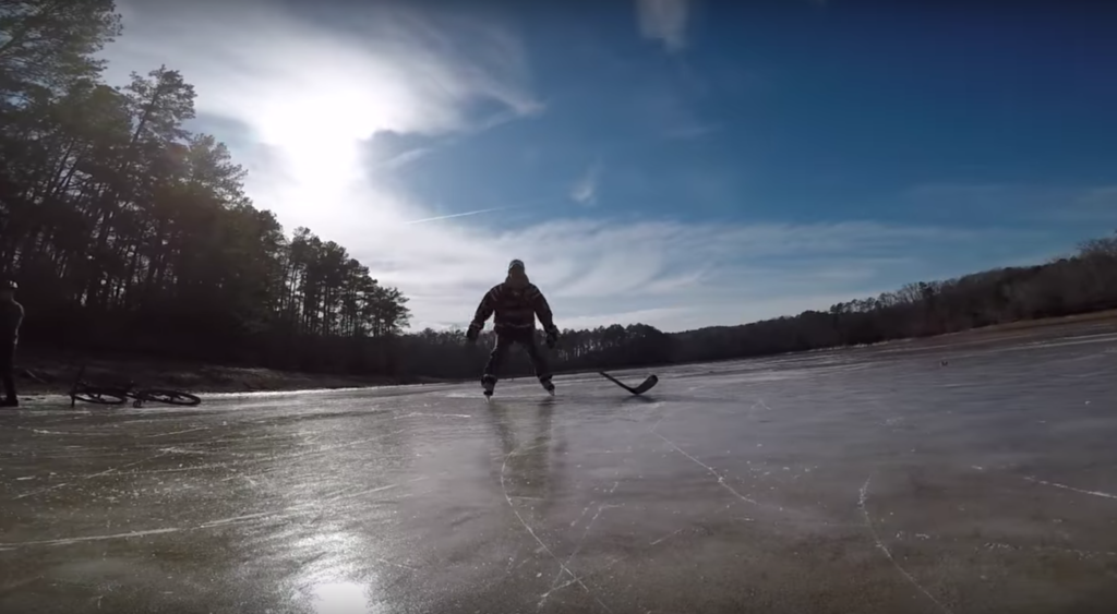 Ice Hockey on Lake Allatoona