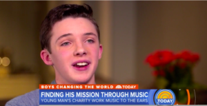 Aidan Cares featured on Today Show