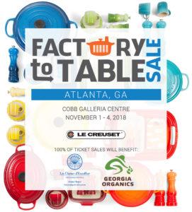 Le Creuset Announces First Atlanta Factory-to-Table Sale @ Cobb Galleria Centre    Atlanta   Georgia   United States