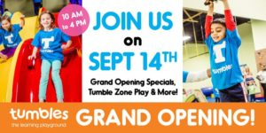 Tumbles Johns Creek Grand Opening @ Tumbles Johns Creek