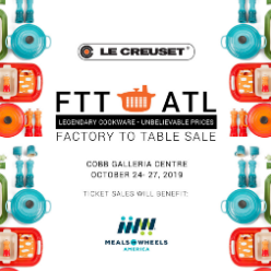 LE CREUSET FACTORY-TO-TABLE SALE @ Cobb Galleria Centre