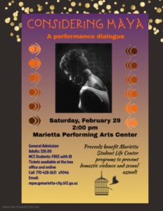 Considering Maya: A Performance Dialogue @ Marietta Performing Arts Center