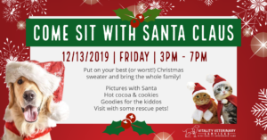 Photos with Santa for Pups, Kitties, and Kiddos Too! @ Vitality Veterinary Services
