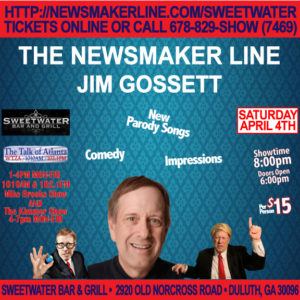 Jim Gossett the NewsMaker Line – from The Kimmer Show @ Sweetwater Bar & Grill